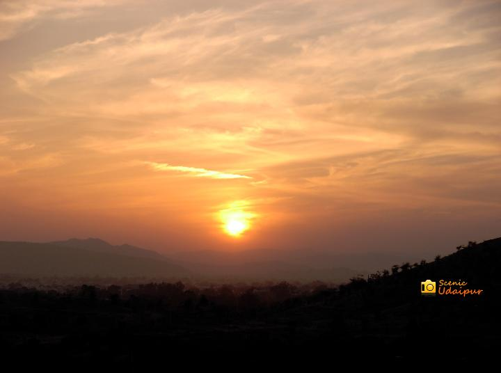 Sunset  pictures, Udaipur.